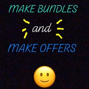 Please feel free to make bundles and offers!
